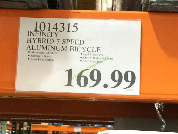 Costco 1014315 Infinity Hybrid 7speed Aluminum Bicycle Tag