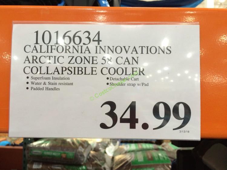 Costco 1016634 California Innovations Arctic Zone 58can