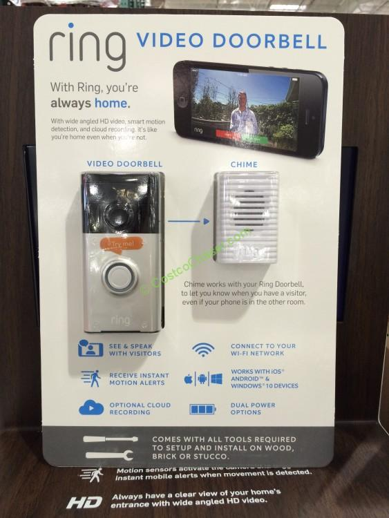 Ring Video Doorbell And Wireless Chime Costcochaser