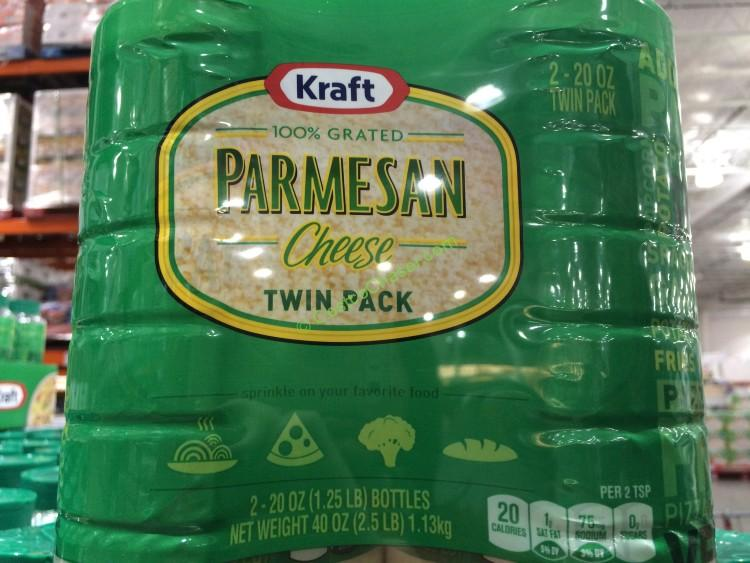 Kraft Grated Parmesan Cheese 2 20 Ounce Containers
