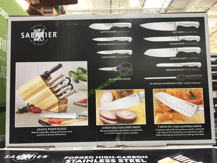 Sabatier 10pc Stainless Steel Cutlery Block Set