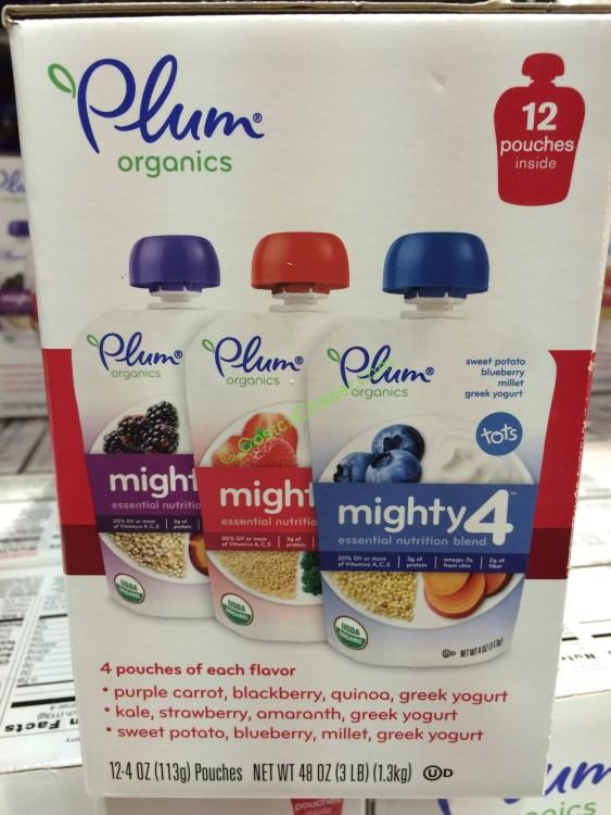 Plum Organics Mighty 4 Variety Pack 12/4 Ounce Pouches