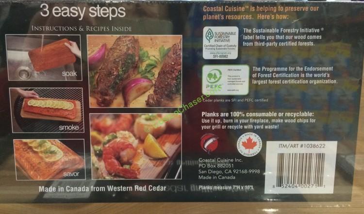Coastal Cuisine Cedar Grilling Planks 8 Pack
