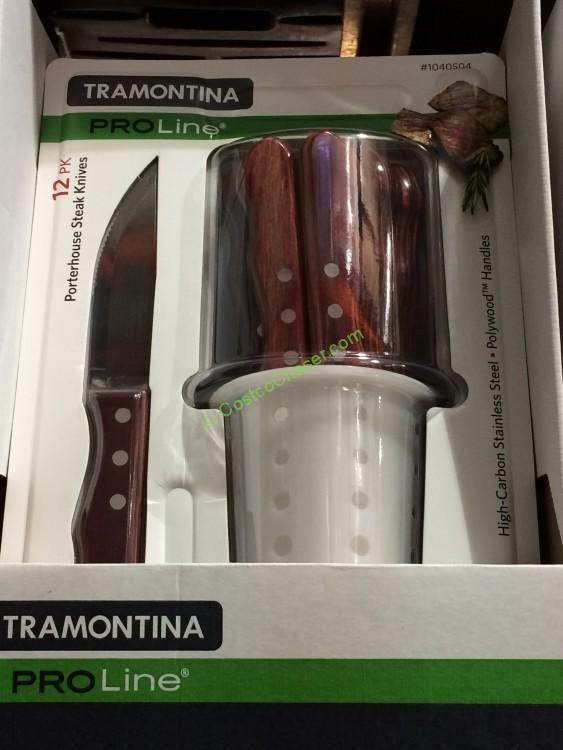 Tramontina Stain Free High Carbon Steel 12 PK Steak Knives