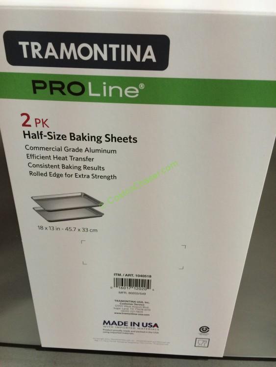 Tramontina 2pk Baking Sheets 189 Size Aluminum Costcochaser