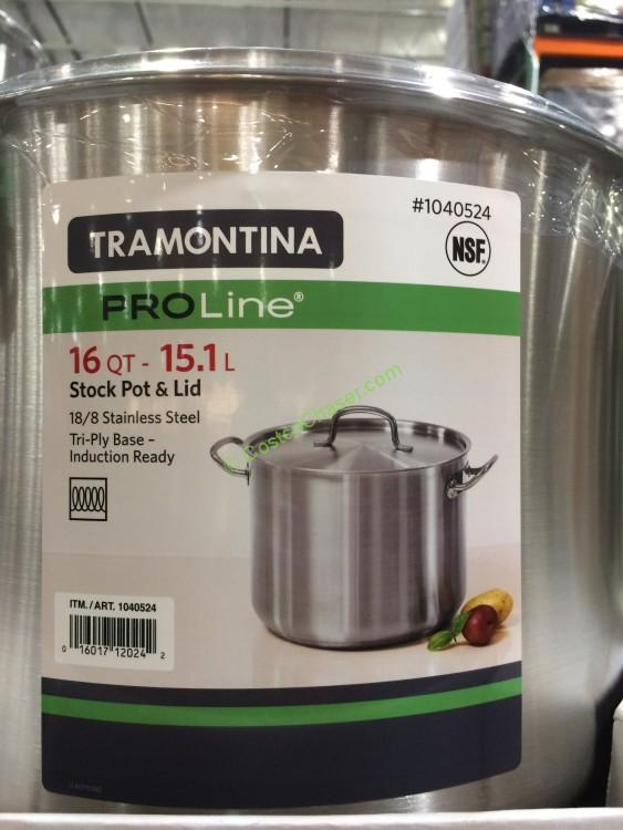 Tramontina Proline 16qt Stock Pot With Lid Costcochaser