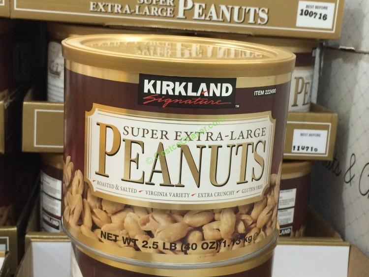 Kirkland Signature Extra-Large Peanuts 2.5 Pound Container