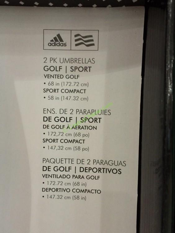 Shedrain Adidas Golf Umbrella 2pk Costcochaser