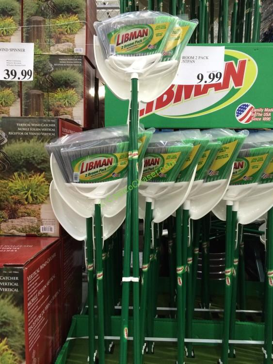 Libman Angle Broom 2 Pack with Dustpan