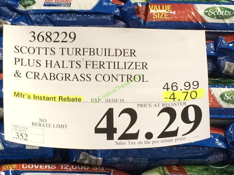 costco-368229-scotts-turfbuilder-plus-halts-fertilizer-crabgrass-control-tag