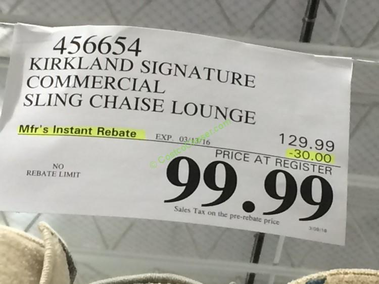 Kirkland Signature Commercial Sling Chaise Lounge