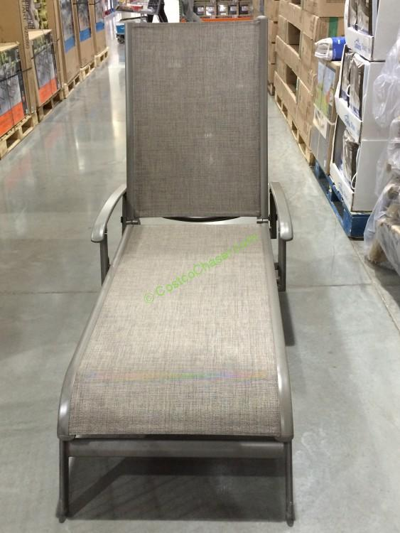 Kirkland signature commercial sling chaise lounge for Chaise lounge costco