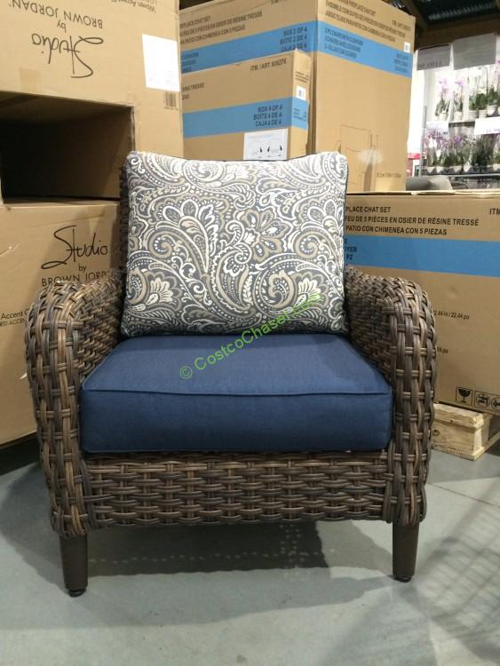 Brown Jordan Woven Accent Chair