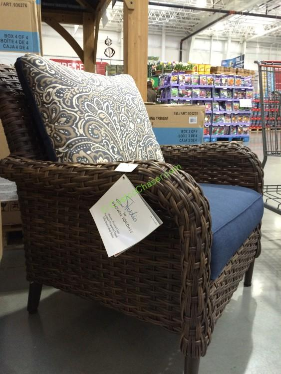 Brown Jordan Woven Accent Chair Costcochaser