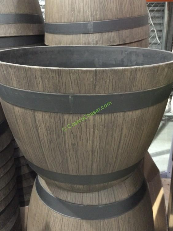 Wine Barrel Planter High Density Resin