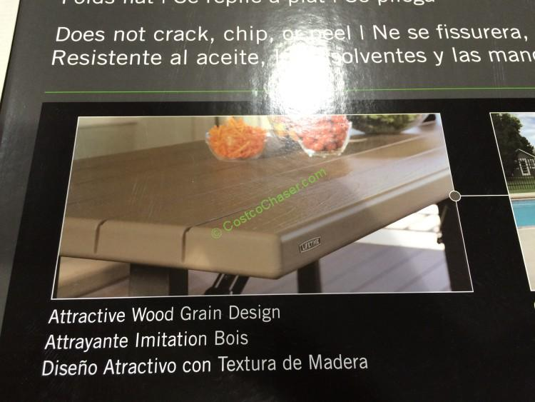 Lifetime Products Folding Picnic Table Costcochaser Costco 470410 Part Watchthetrailerfo