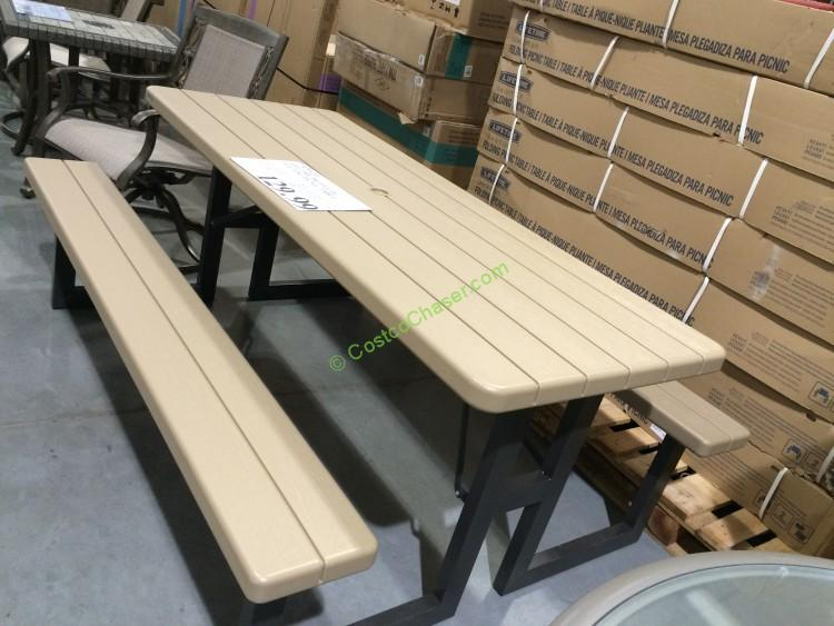Costco 470410 Lifetime Products Folding Picnic Table1