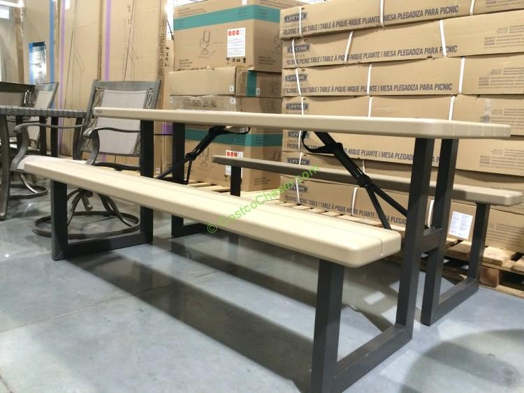 Costco 470410 Lifetime Products Folding Picnic Table2