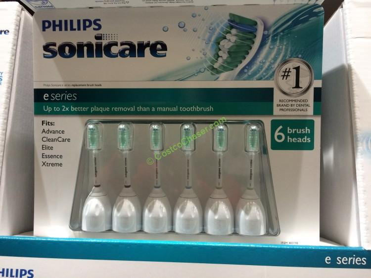Philips Sonicare E Series 6-pack Replacement Brush Heads