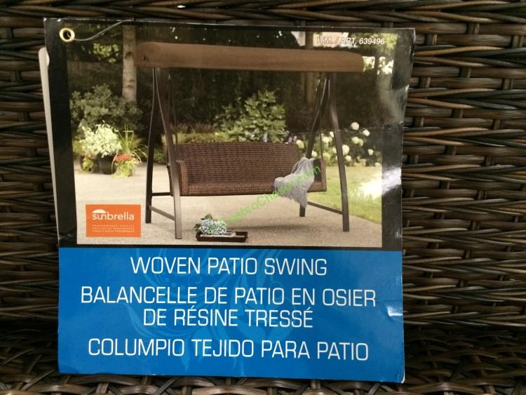 Agio International 3 Person Woven Swing Costcochaser