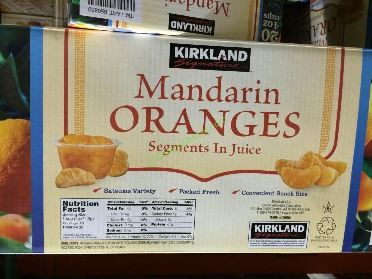 Kirkland Signature Mandarin Oranges 20/4 Ounce Cups