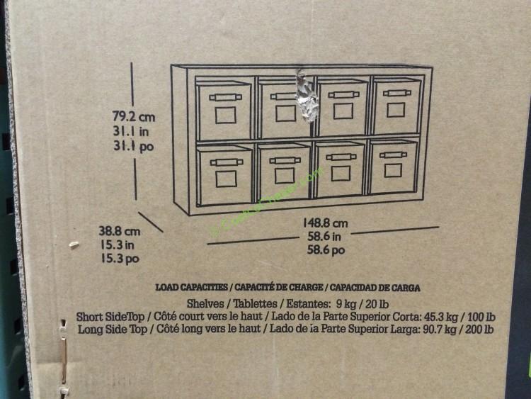 Bayside Furnishings Room DividerBookcase Onin Roast Hazelnut