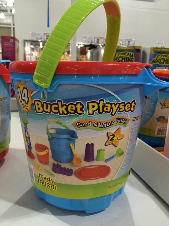 14PC Bucket Playset Sand and Water Fun