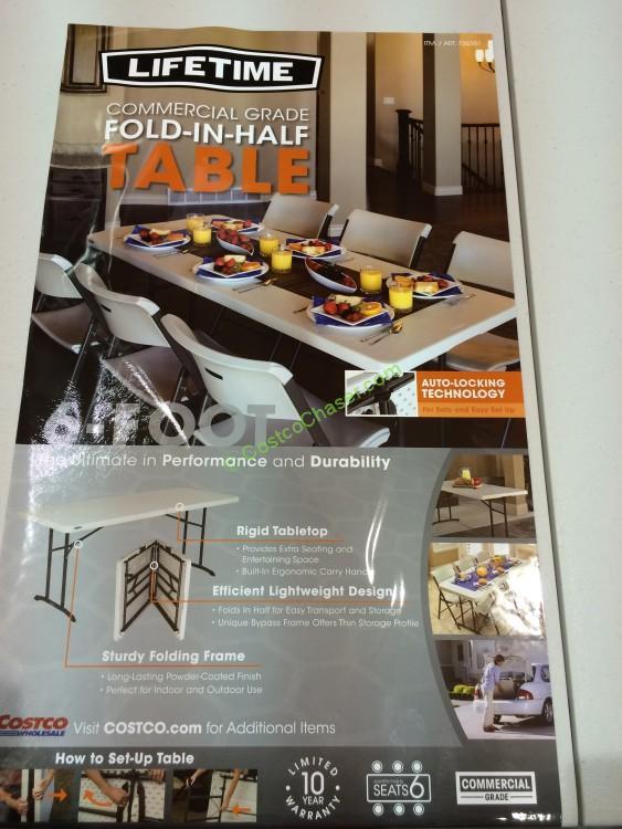 Lifetime 6 Fold In Half Table 80264 Costcochaser