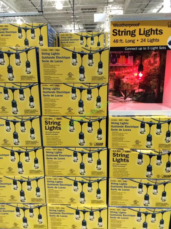 Feit Electric 48 Ft String Lights Outdoor Weatherproof CostcoChaser