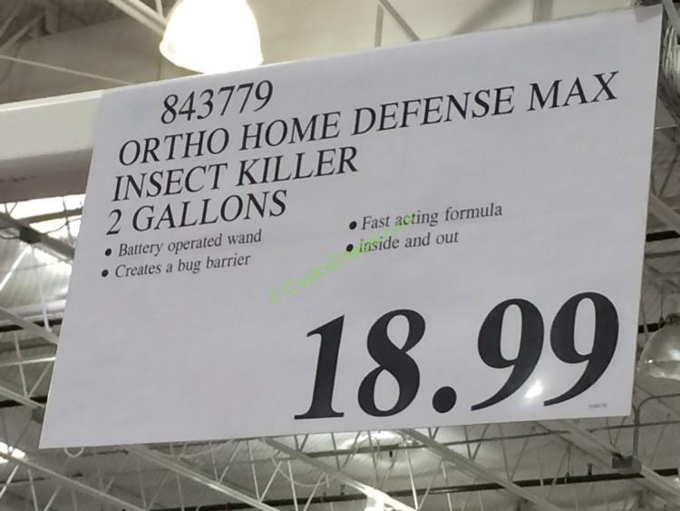 Costco 843779 Ortho Home Defense Max Insect Killer Tag