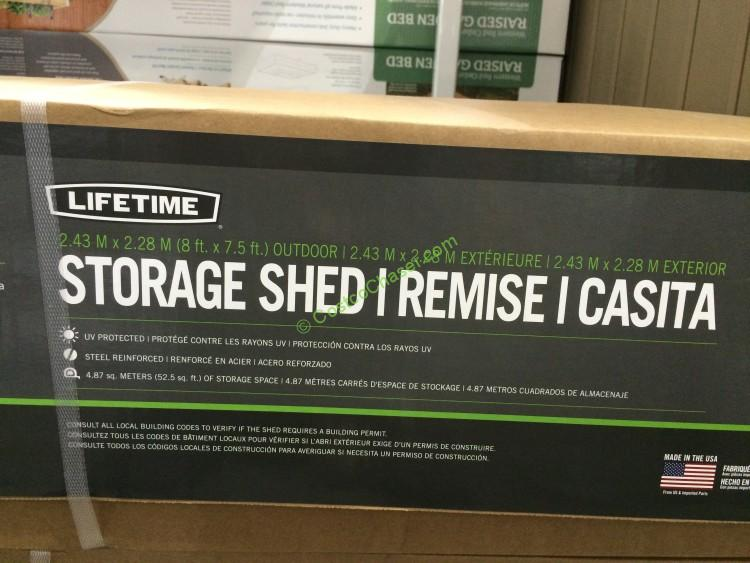 Lifetime Products 8′ x 7.5′ Resin Outdoor Storage Shed ...