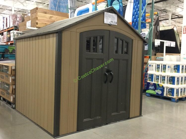 Charmant Costco 853280 Lifetime Products 8 7.5 Resin Outdoor