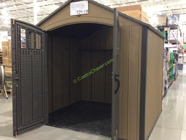 Lifetime Products 8′ x 7 5′ Resin Outdoor Storage Shed