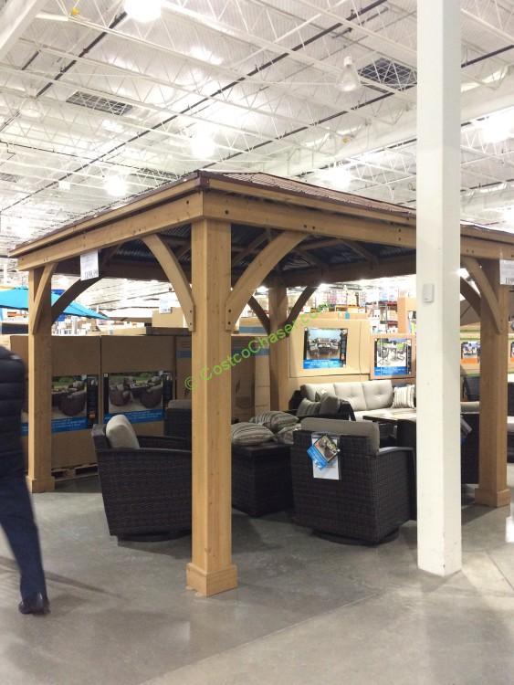 12' X 14' Cedar Gazebo with Aluminum Roof – CostcoChaser