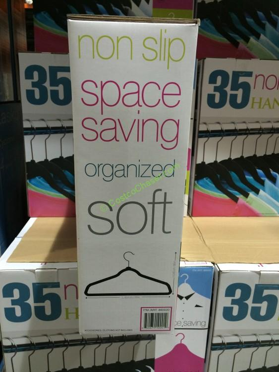 Costco 860020 Flocked Hangers 35pack Box Costcochaser