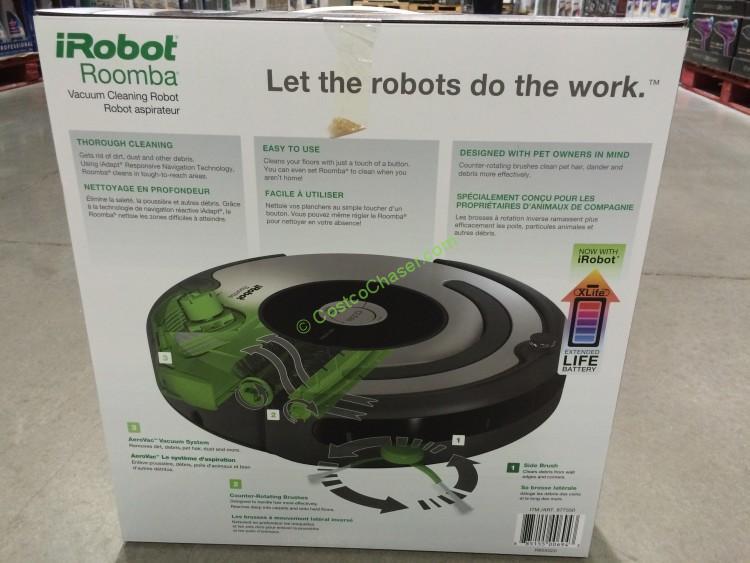 Costco 877550 Irobot Roomba 655 Pet Series Vacuum Cleaning