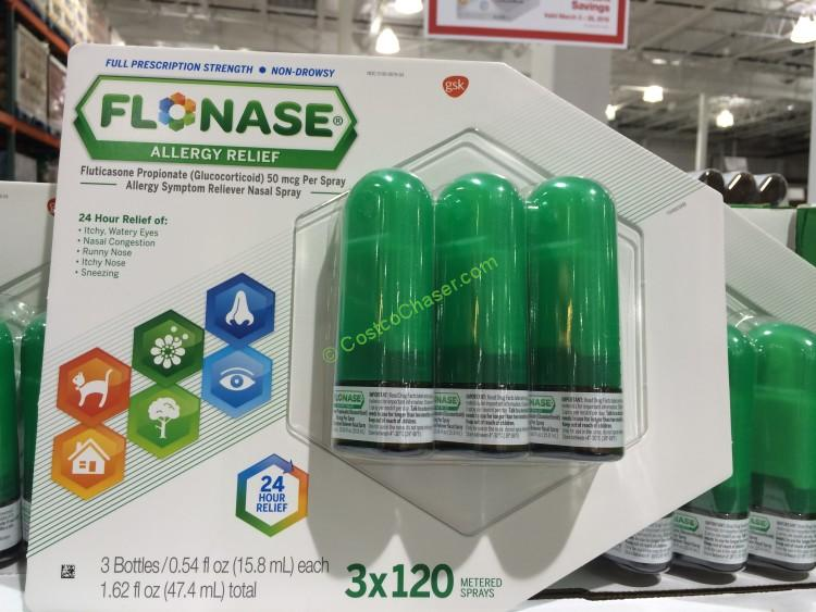 Flonase Nasal Spray 50MCG 3X120 Sprays