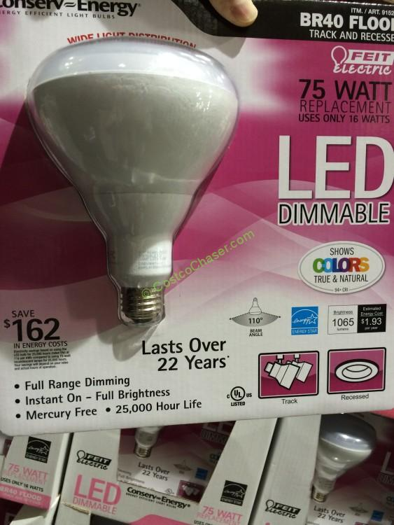 Feit LED Light Bulb BR40 Flood Dimmable