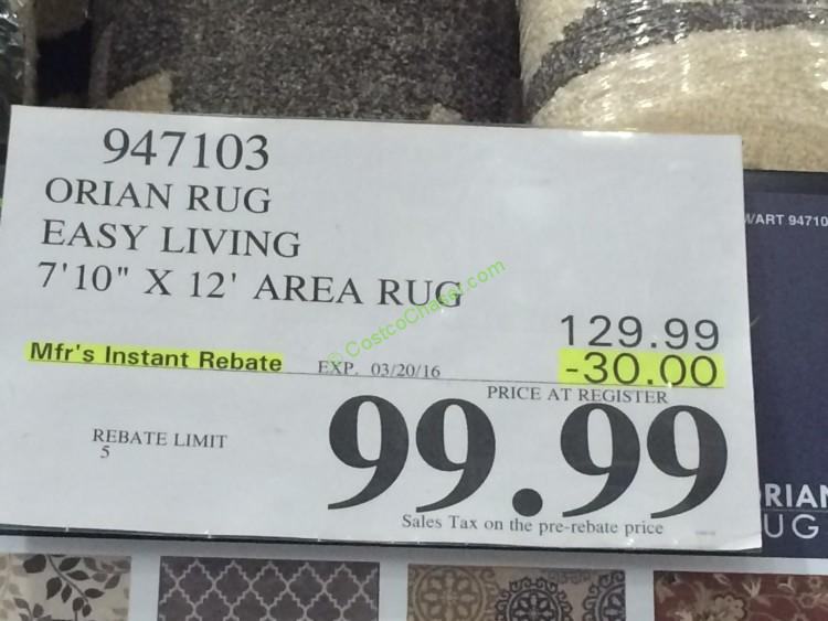 Orian Rug Easy Living 7 10 X 12 Area Rug Costcochaser