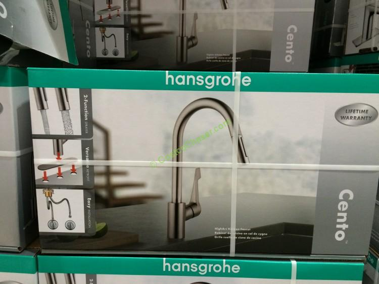 hansgrohe cento pull down kitchen faucet costcochaser water ridge pull out kitchen faucet