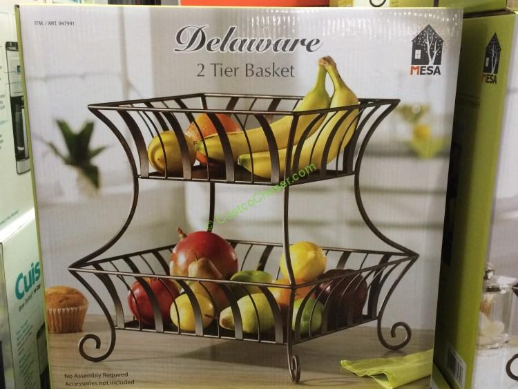 Mesa Delaware Basket 2 Tier Basket