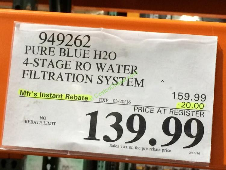 Pure Blue H2o 4 Stage Ro Water Filtration System