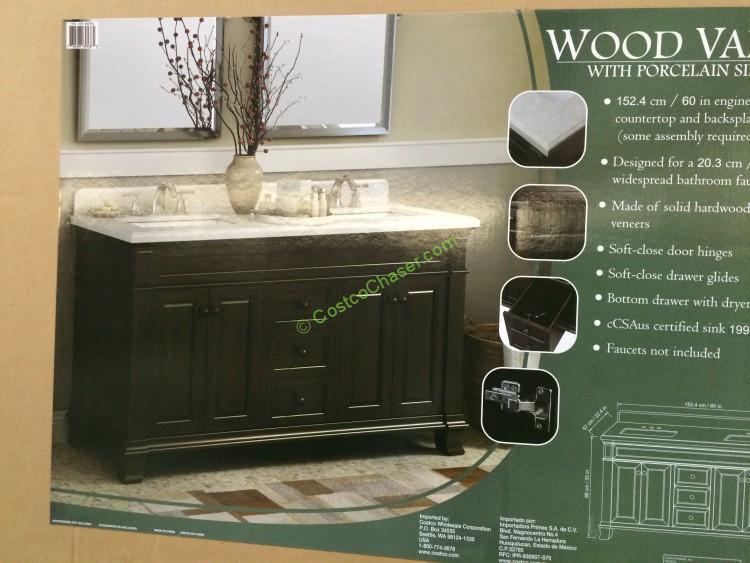 Lanza 60 Double Sink Wood Vanity Costcochaser