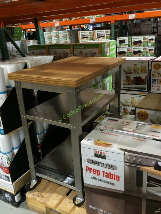 Costco 966341 Seville Clics Stainless Steel Car Bamboo
