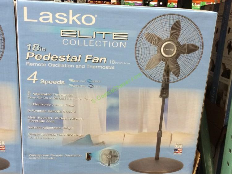Lasko S18961 18 U201d Elite Collection Pedestal Fan With Remote