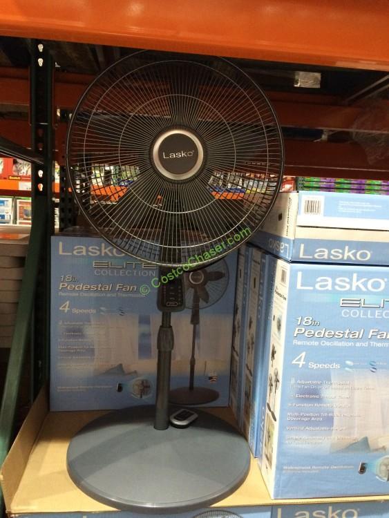 Fans At Costco : Lasko s elite collection pedestal fan with remote