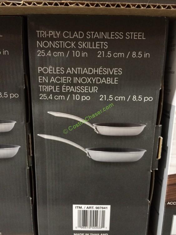 Kirkland Signature 2pk Stainless Steel Tri Ply Clad