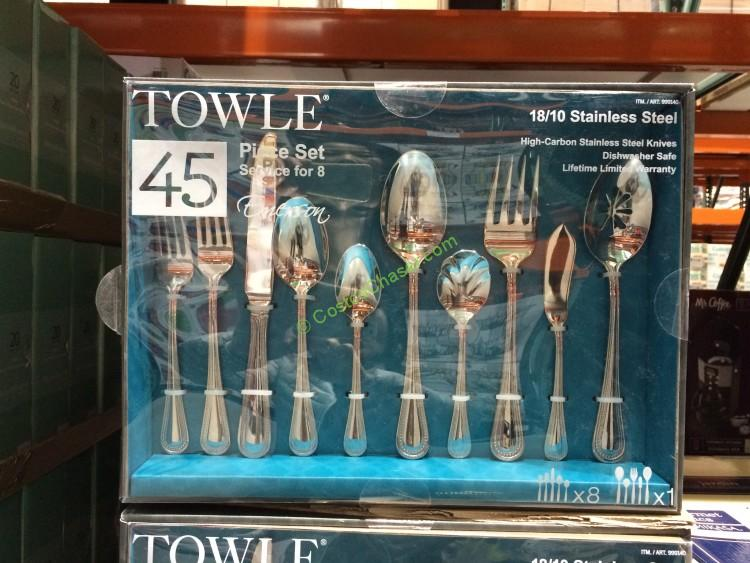 Towle 45PC 18/10 SS Flatware Simpatico/Emerson