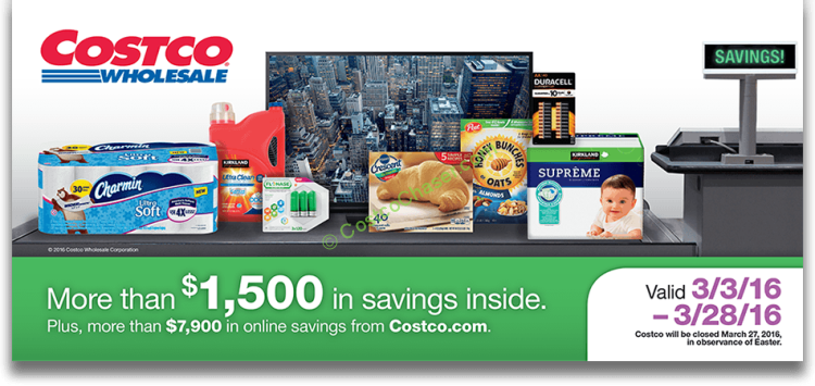 Costco Coupon Book: March 3 - March 28, 2016