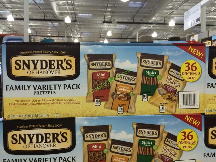 Snyder's of Hanover Variety Pretzels 36 Count Box
